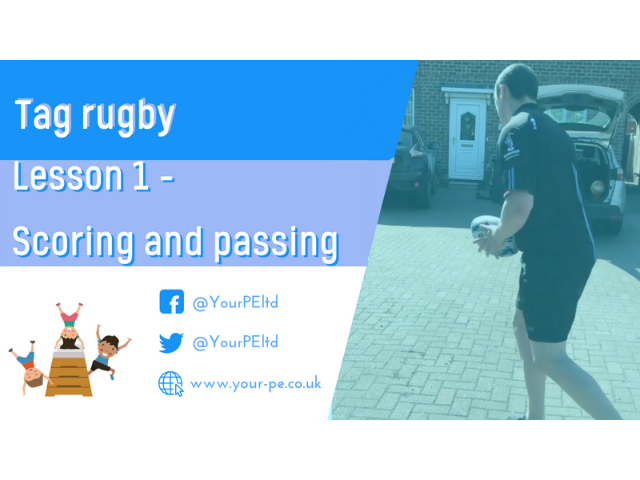 Tag rugby lesson 1 - Scoring and passing